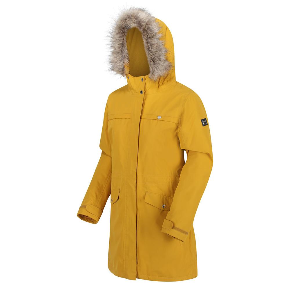 Regatta Women/'s Serleena Fur Trimmed Waterproof Insulated Jacket Black