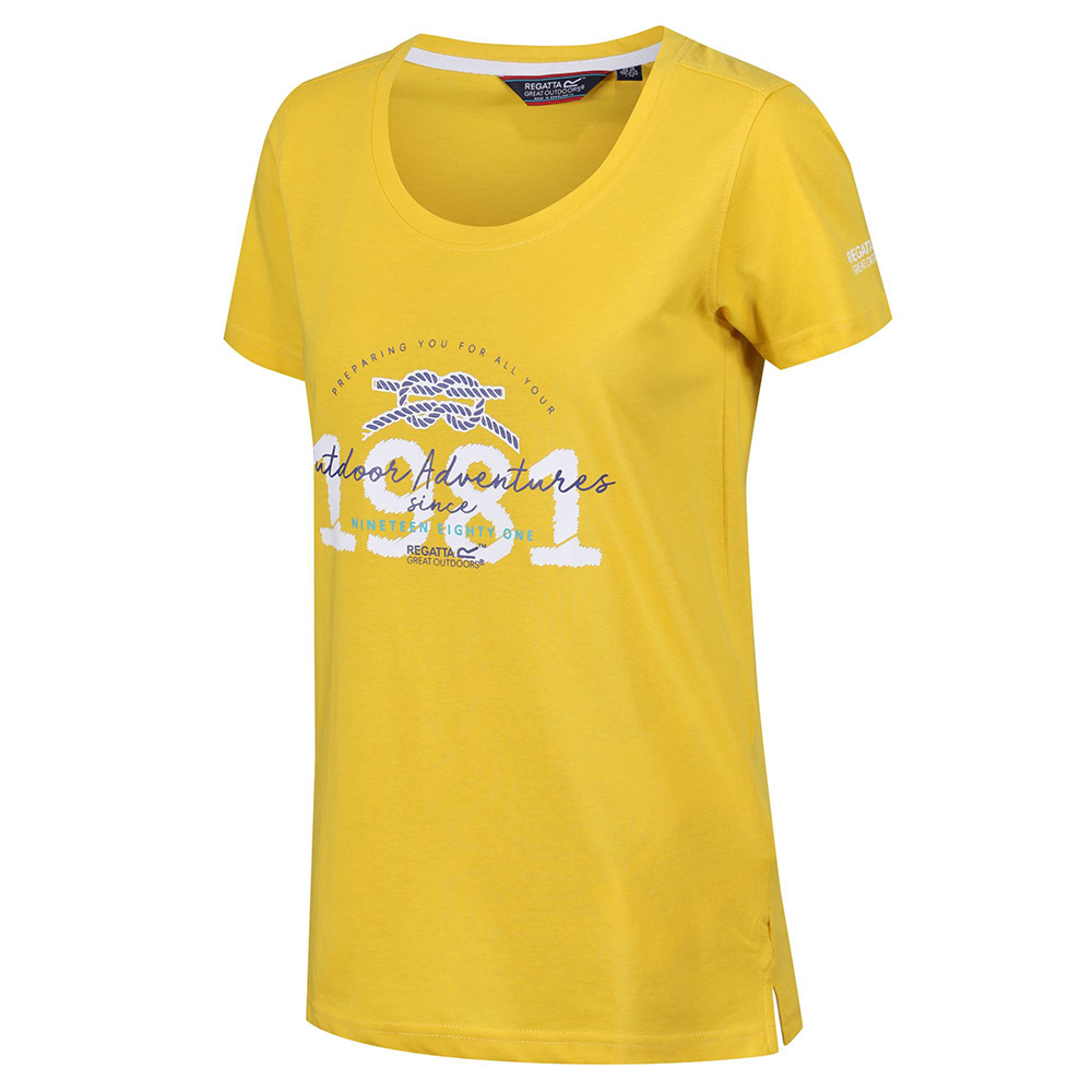 Regatta Womens Filandra III T-Shirt-Yellow-14
