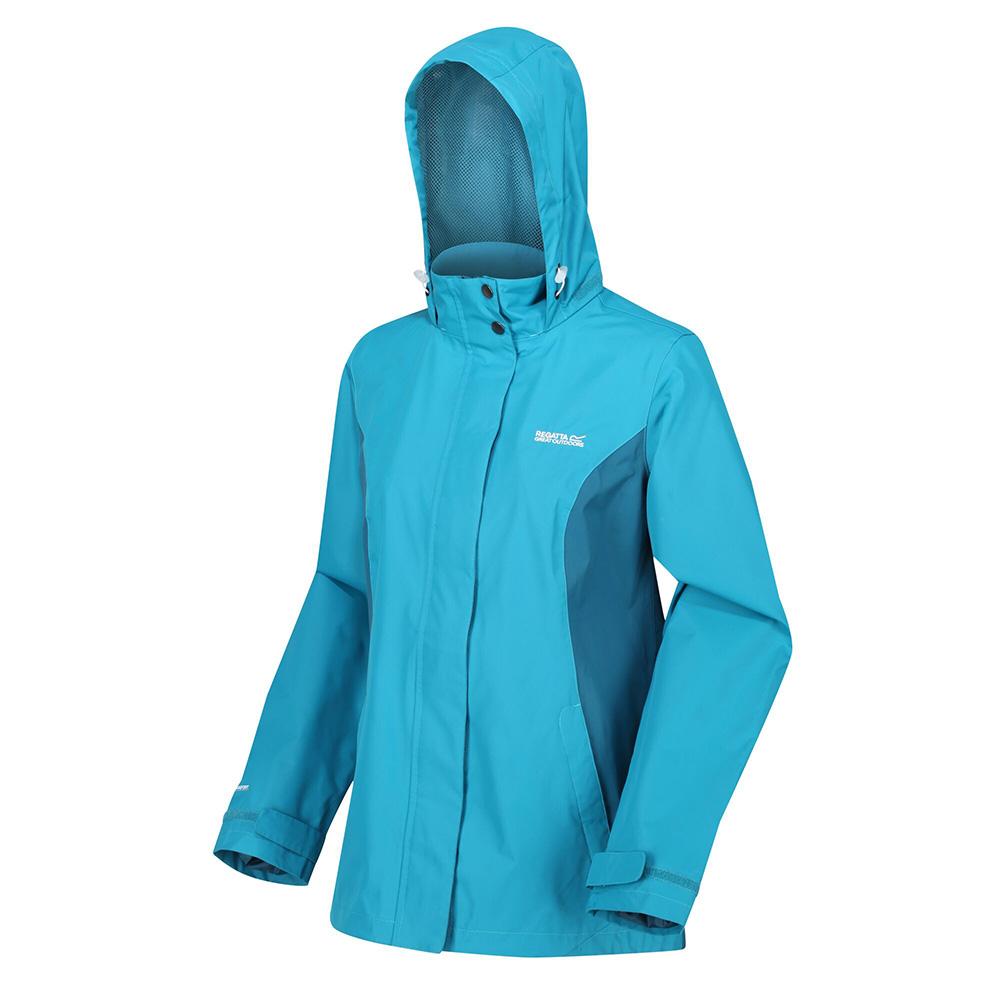 Regatta Womens Daysha Waterproof Jacket-ocean Depths / Sea Blue-10