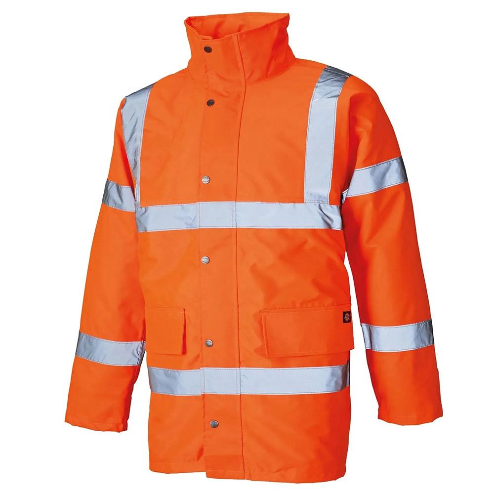Dickies Hi-vis Waterproof Motorway Safety Jacket-hi Vis Orange-3xl