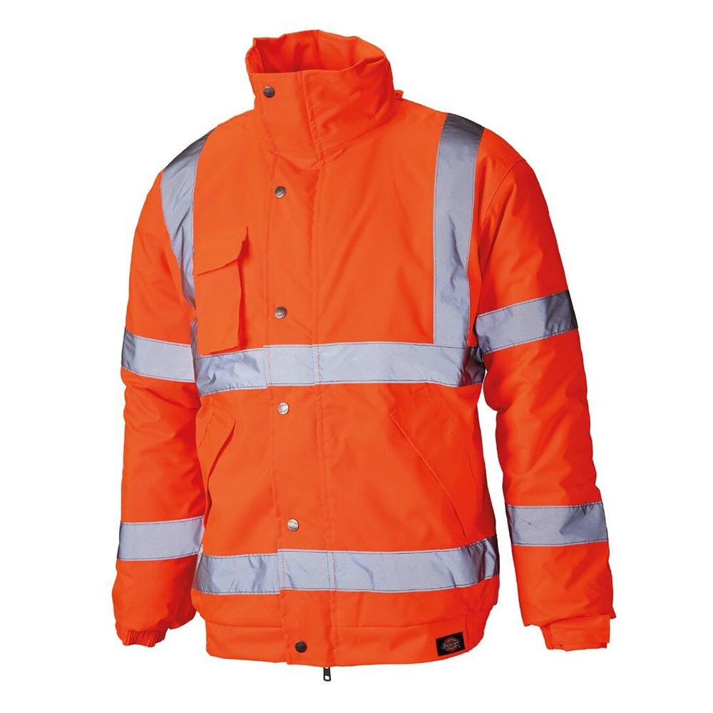 Dickies High Visibility Bomber Jacket-orange-3xl