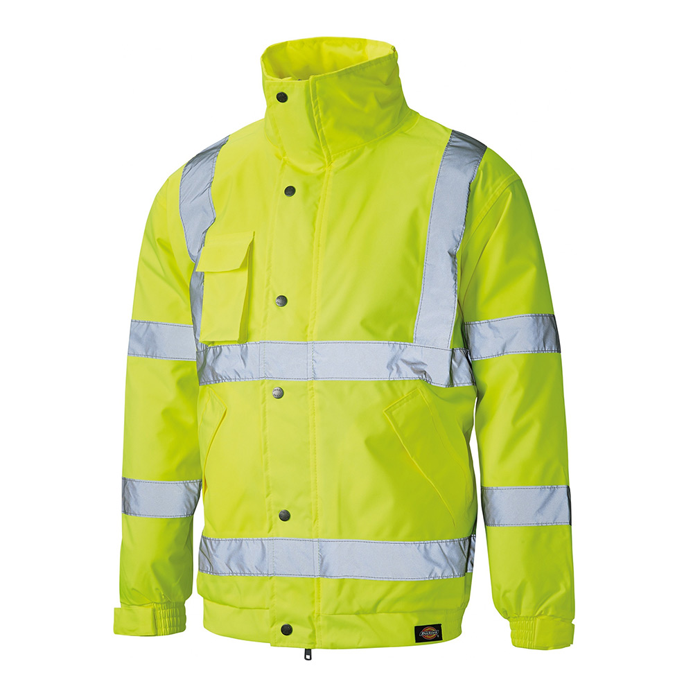 Dickies High Visibility Bomber Jacket-yellow-3xl