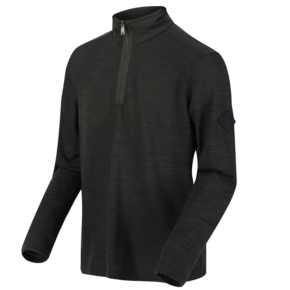 Regatta Mens Parnel 1/4 Zip Fleece-dark Khaki-xl