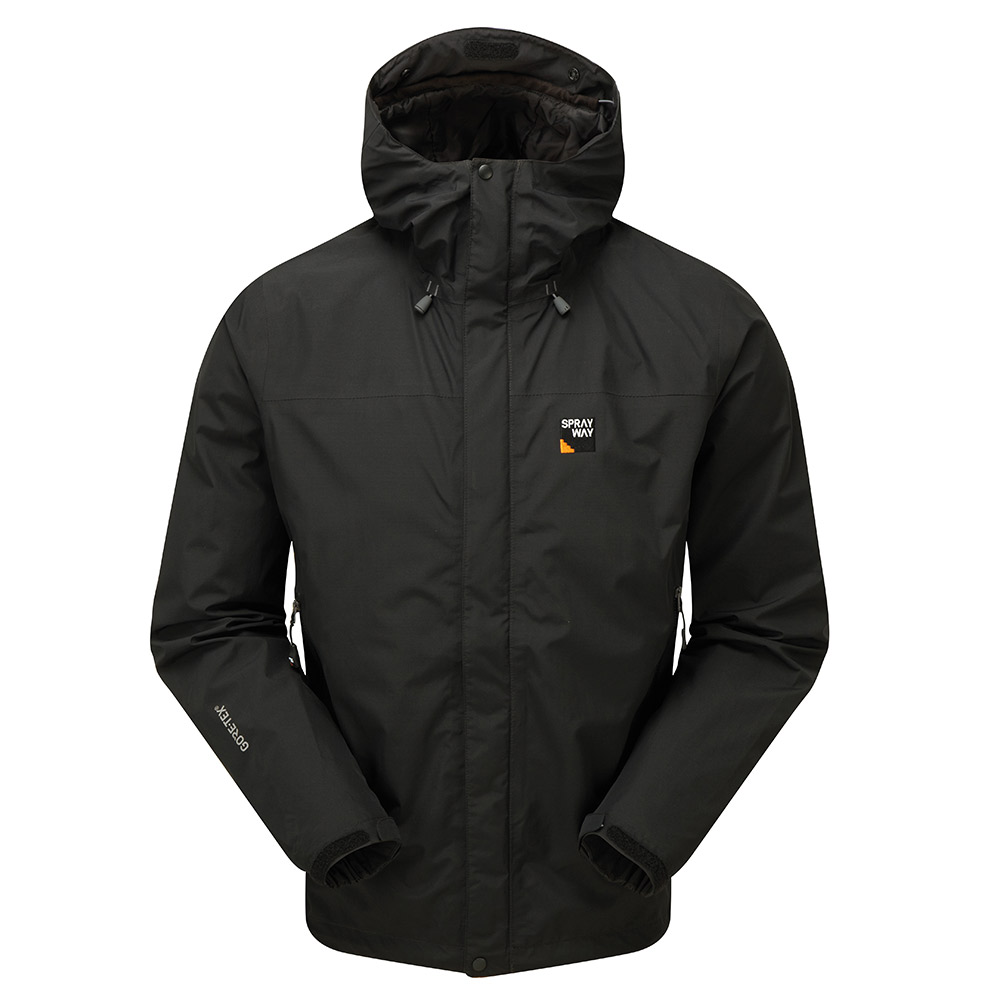 Sprayway Mens Maxen Gore-tex Jacket-black / Chrome-2xl