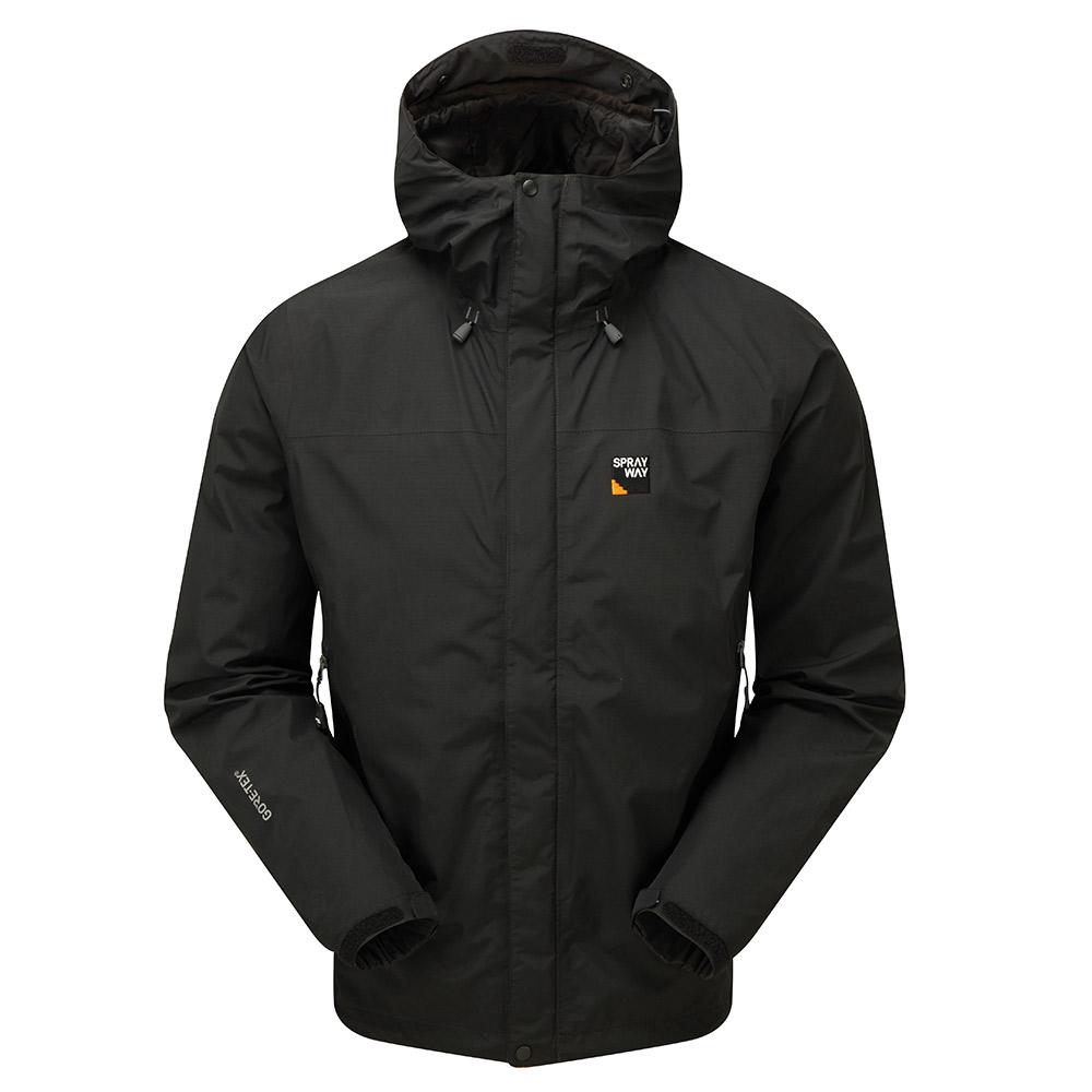 Sprayway Mens Maxen Gore-tex Jacket-black / Chrome-2xl