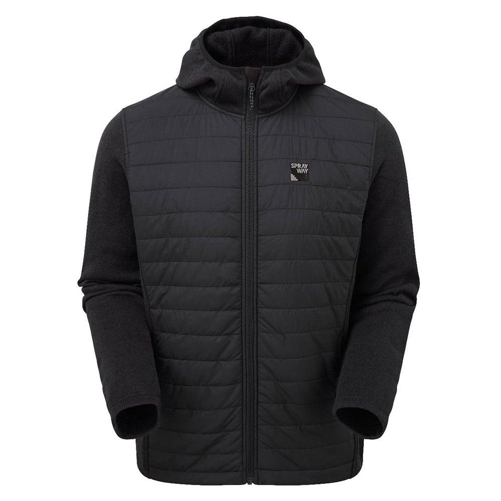 Sprayway Mens Vanta Insulated Hybrid Jacket-black-s