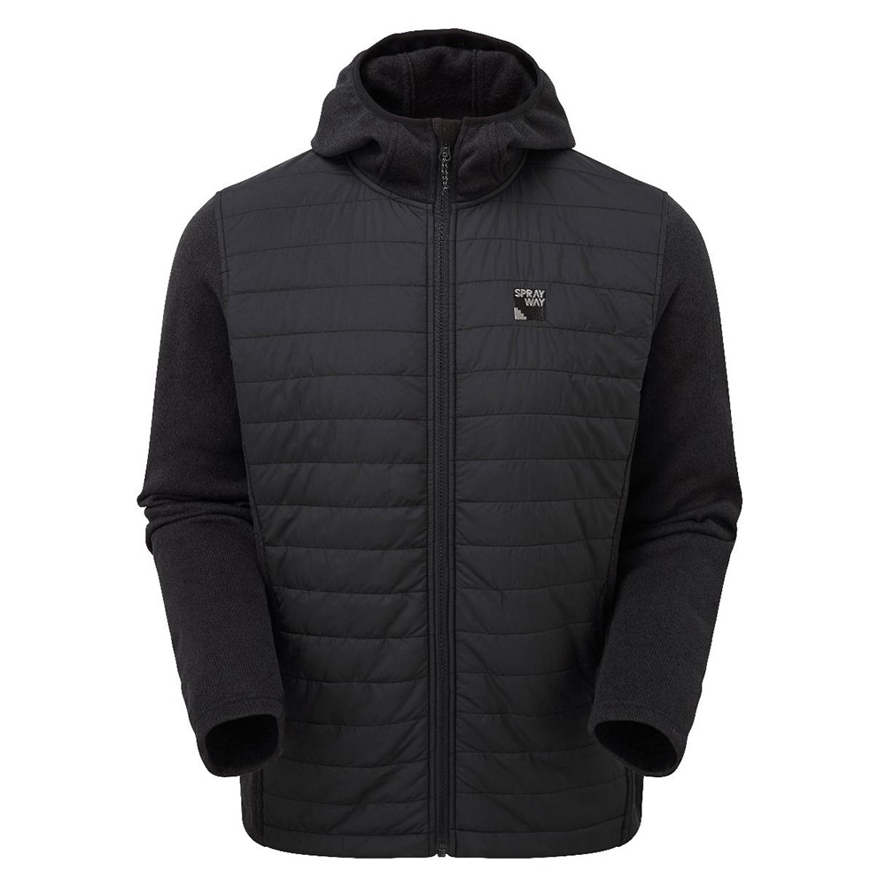 Sprayway Mens Vanta Insulated Hybrid Jacket-black-xl