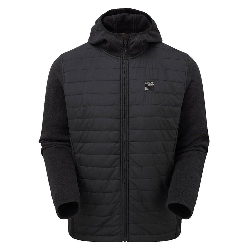 Sprayway Mens Vanta Insulated Hybrid Jacket-black-xl