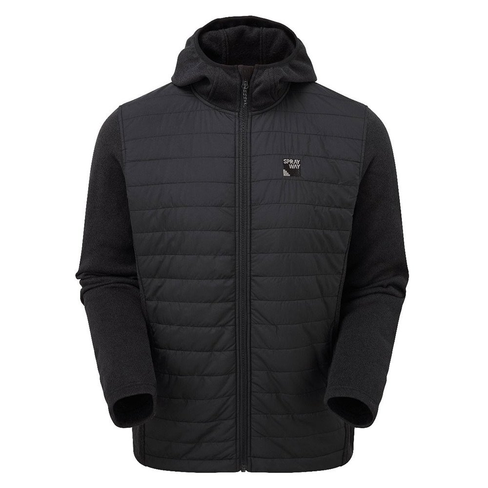 Sprayway Mens Vanta Insulated Hybrid Jacket-black-2xl