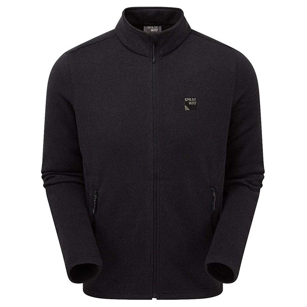 Sprayway Mens Preto Fleece Jacket-black-m