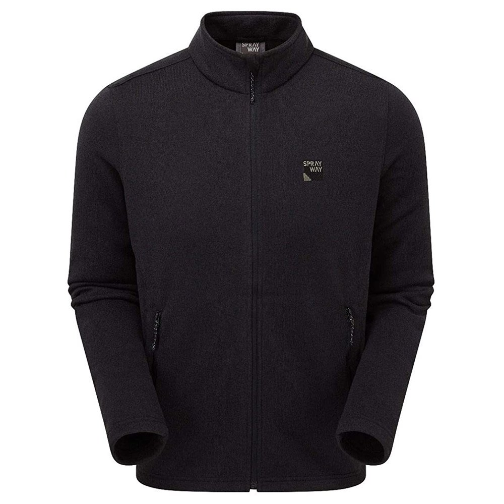 Sprayway Mens Preto Fleece Jacket-black-xl