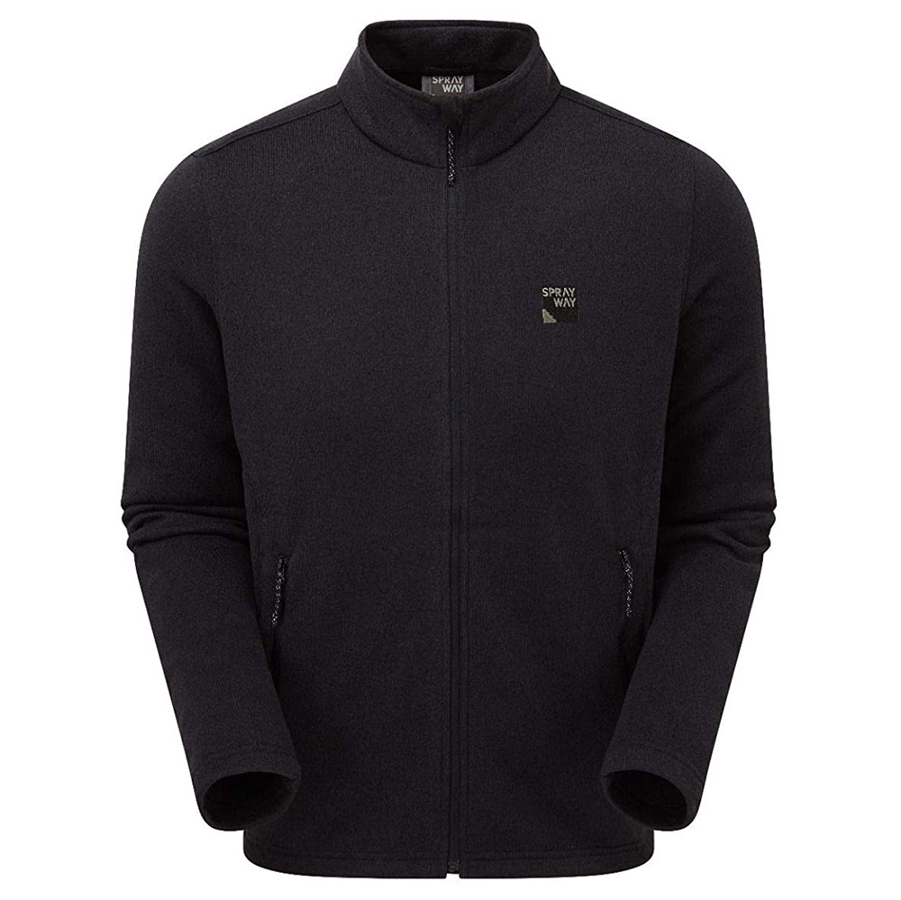 Sprayway Mens Preto Fleece Jacket-black-2xl