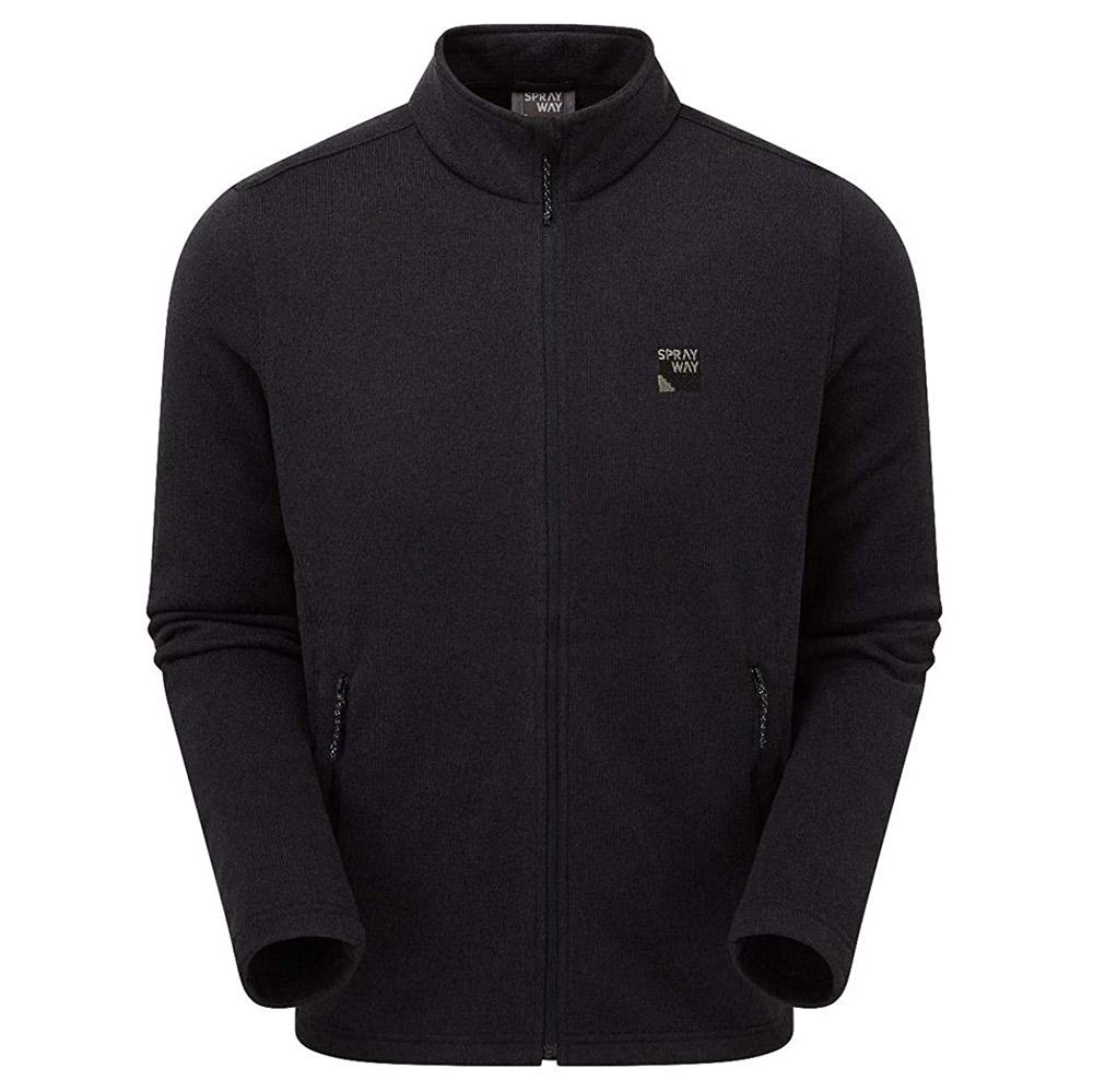 Sprayway Mens Preto Fleece Jacket-black-2xl