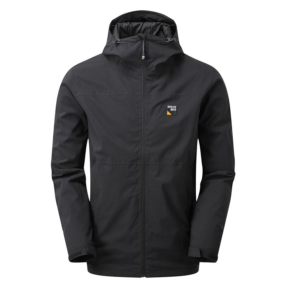 Sprayway Mens Hergen Waterproof Jacket-black-m