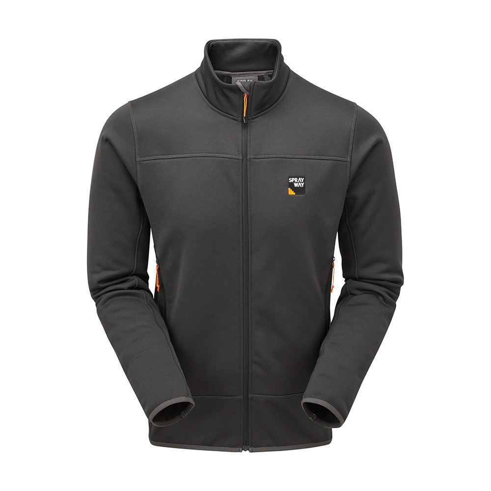 Sprayway Mens Huller Fleece Jacket-thunder-s