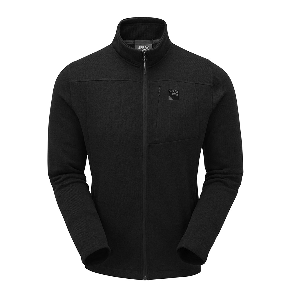 Sprayway Mens Minos Full Zip Fleece Jacket-black-m