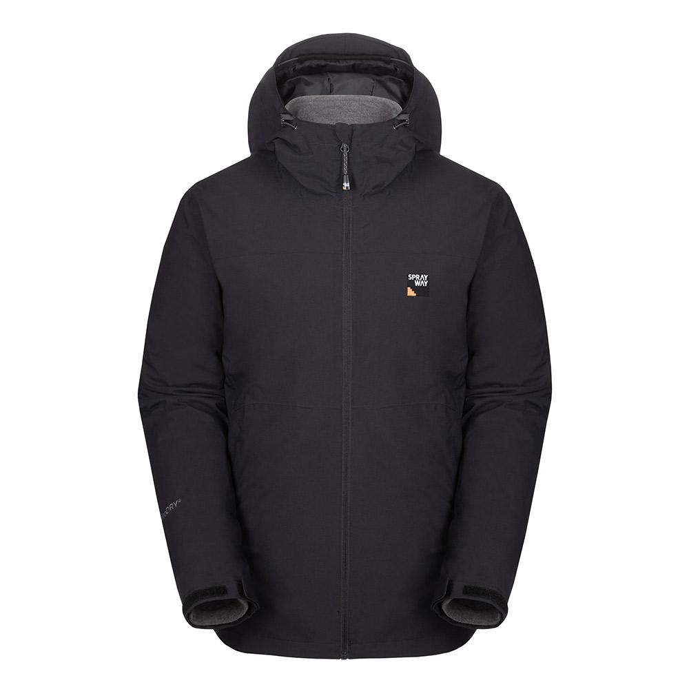 Sprayway Mens Heaton 3 In 1 Jacket-black-l