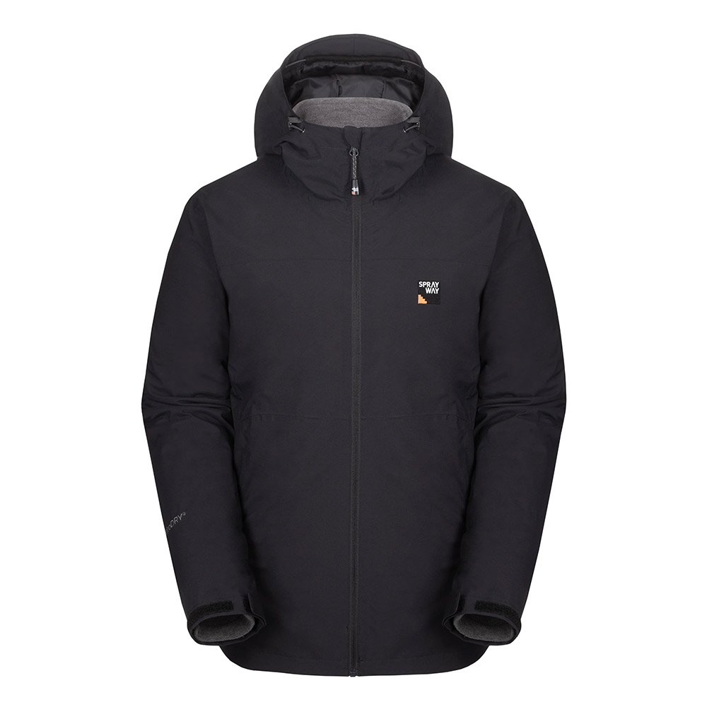Sprayway Mens Heaton 3 In 1 Jacket-black-xl