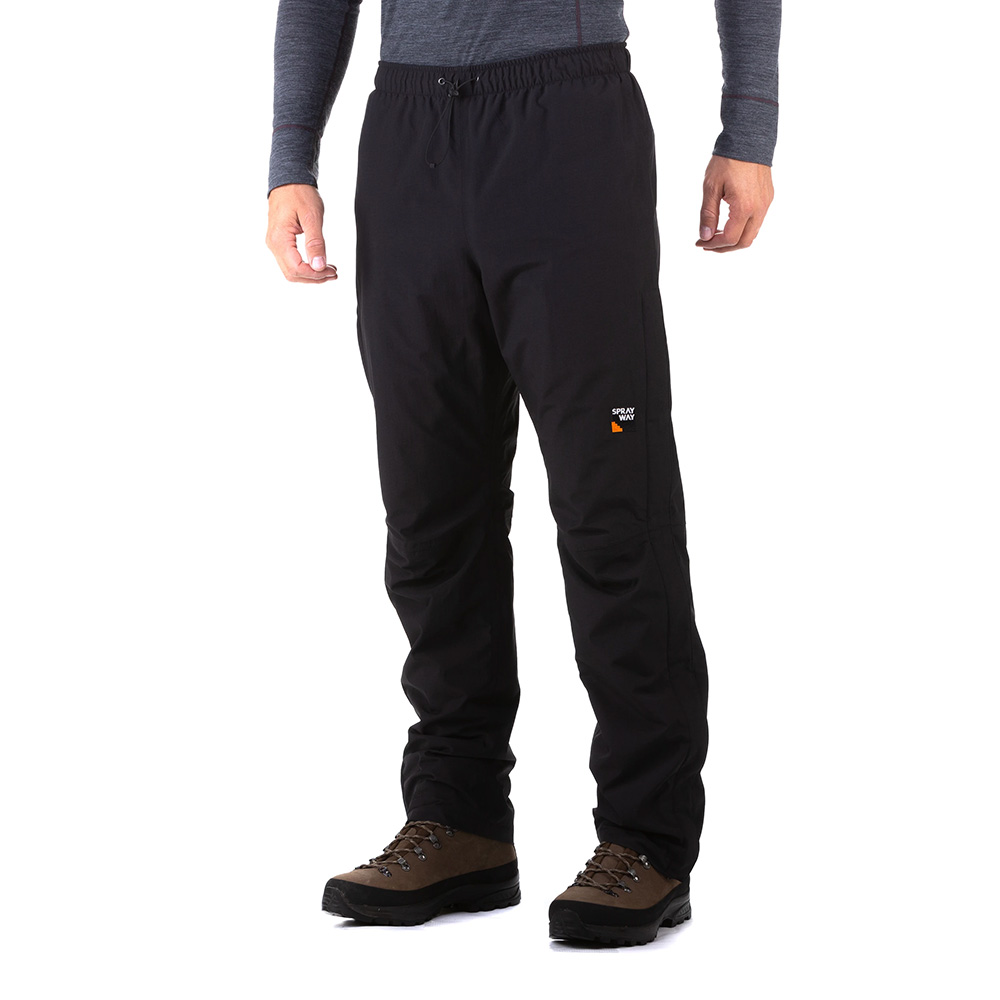 Sprayway Mens Walking Rainpant-black-s-r