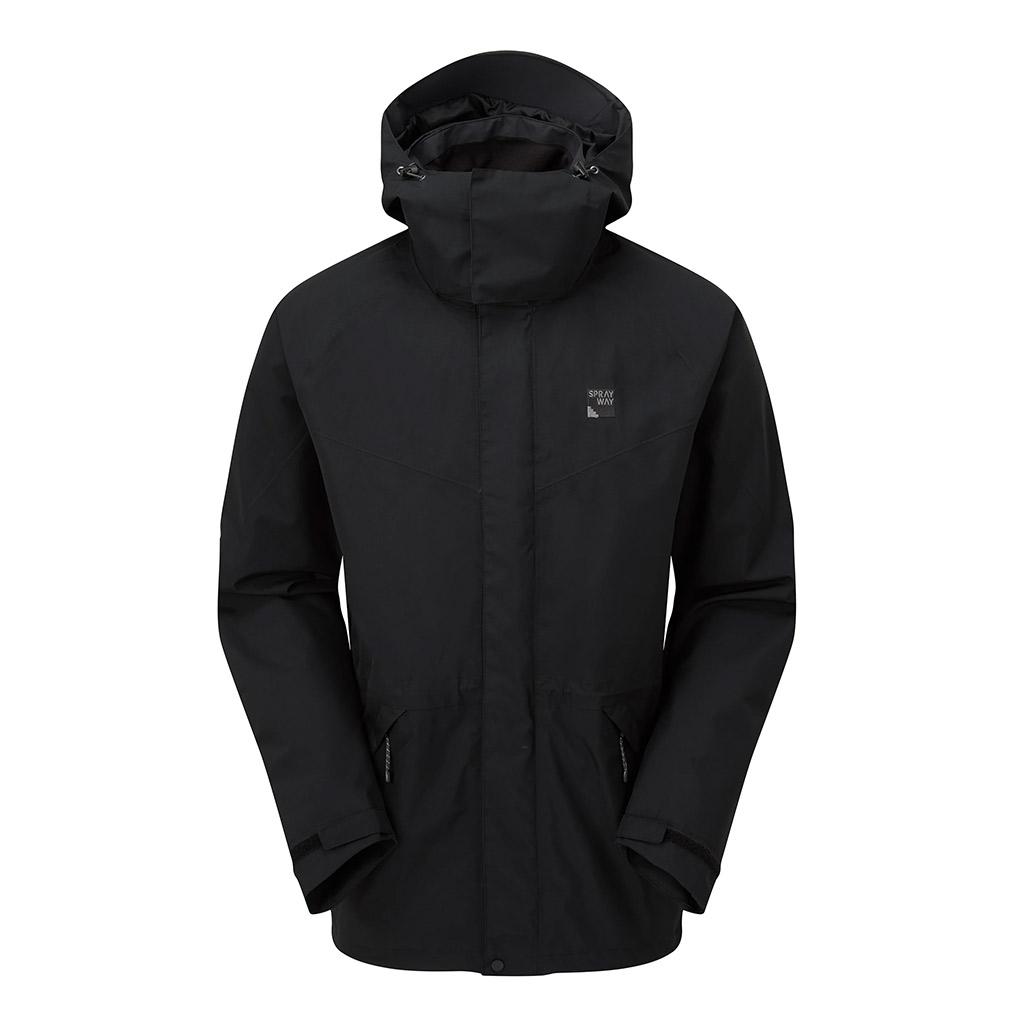 Sprayway Mens Kenmore Gore-tex Jacket-black-s