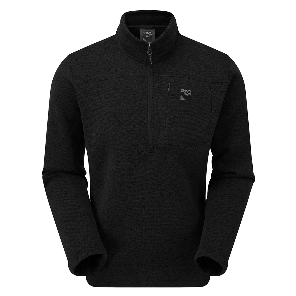 Sprayway Mens Minos Half-zip Fleece-black-2xl