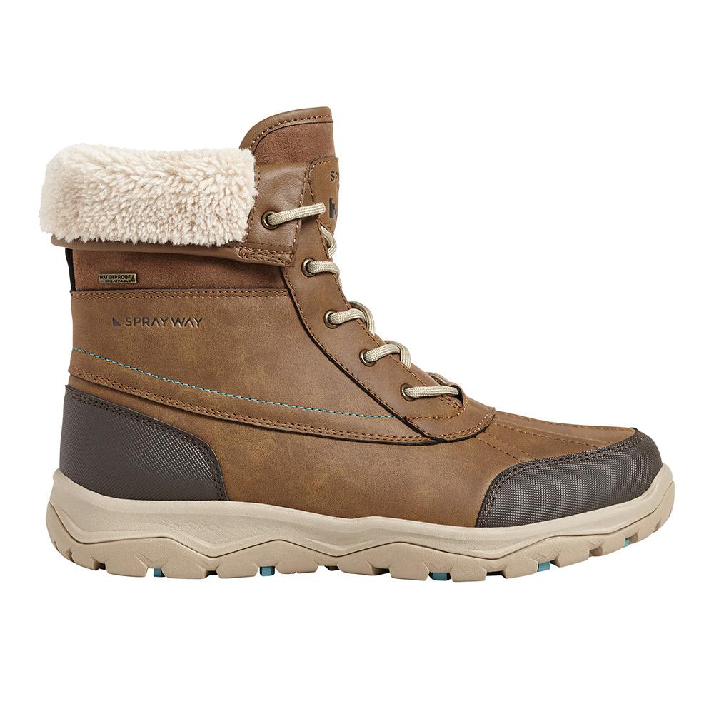 Sprayway Womens Resolute Hydrodry Waterproof Walking Boots-brown-4