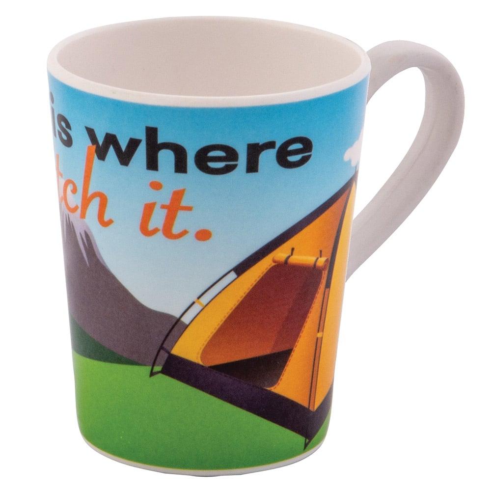 Quest home Is Where Melamine Mug-tent