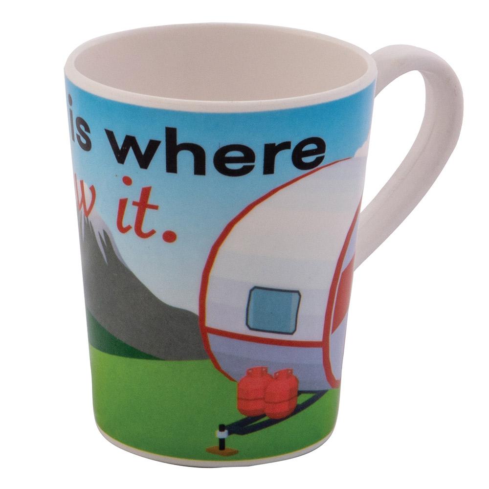 Quest home Is Where Melamine Mug-caravan