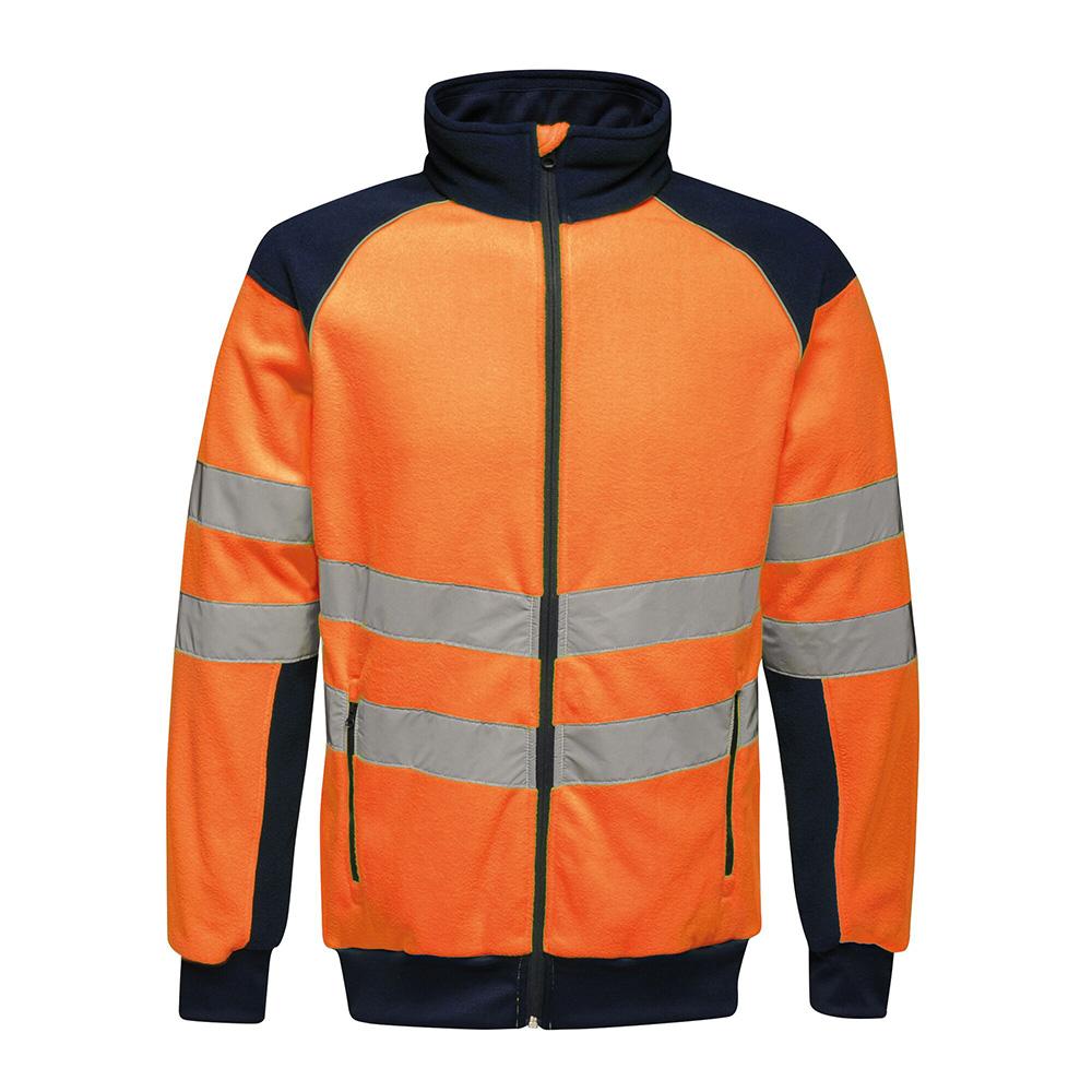 Regatta Mens Hi-vis Pro Fleece-orange / Navy-m