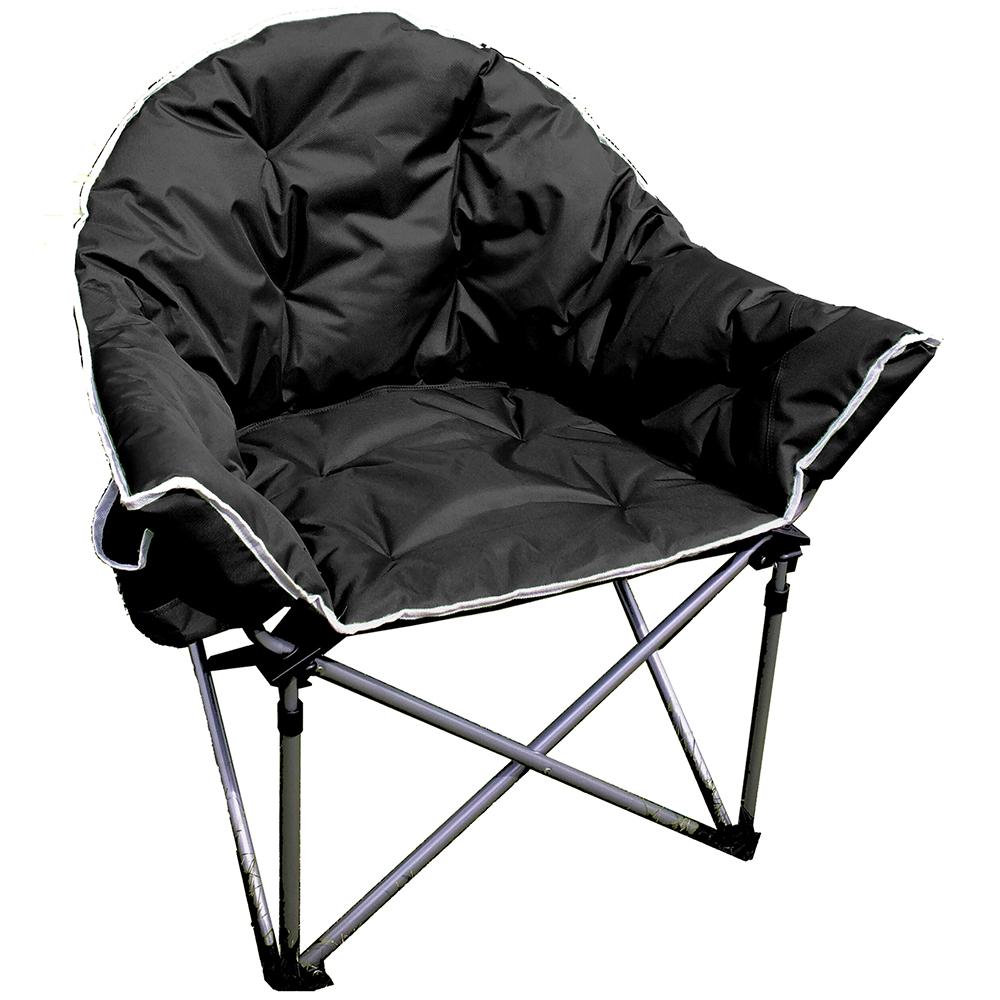 Crusader The Comfort Folding Camping Chair - Black