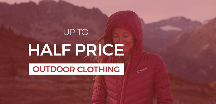 Up to Half Price Outdoor Clothing - Sale