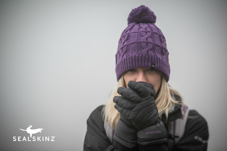 Woman wearing Sealskinz clothing