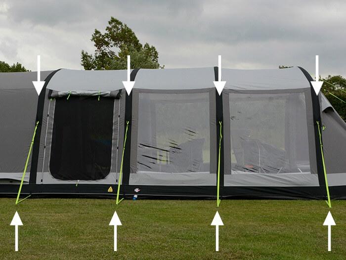 tent guyline pegging advice