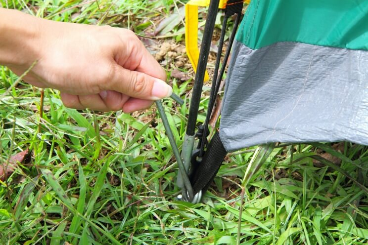 tent pegs you need for camping