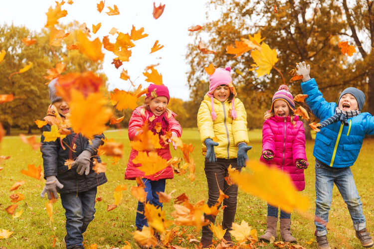 Winfield's kids in Autumn