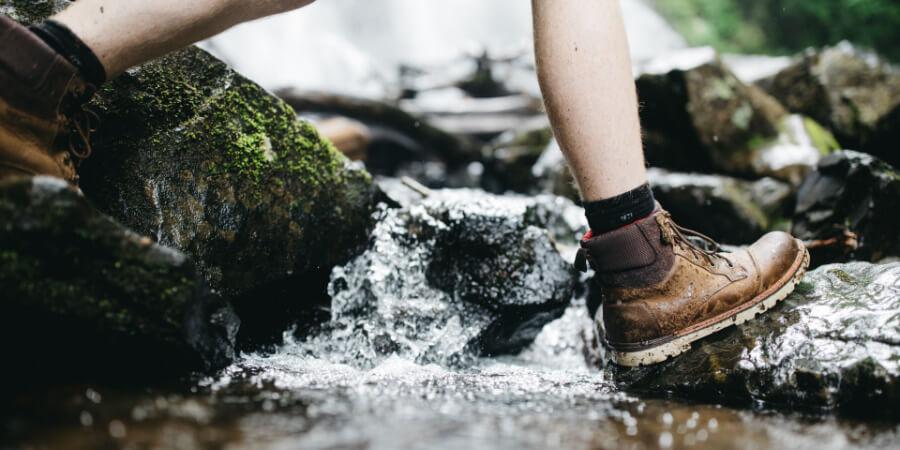 Are walking boots waterproof?